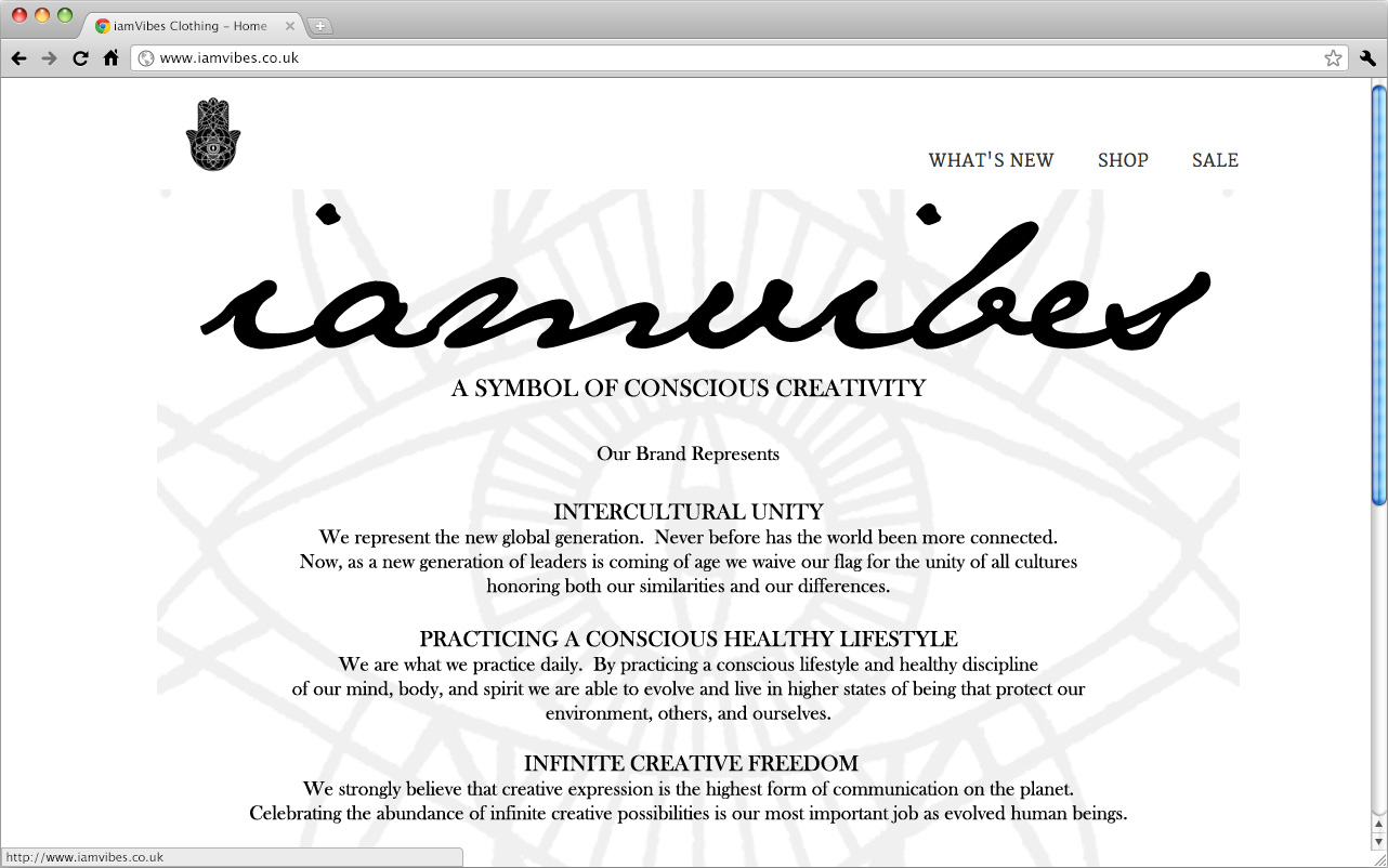 A preview of the iamVibes website